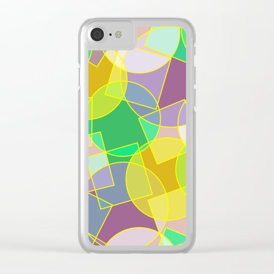 Colorful abstract geometric pattern Clear iPhone Case