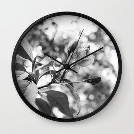 Glass Buds Wall Clock