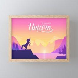 Horse in fantasy world Framed Mini Art Print