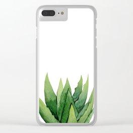 Aloe Vera. Clear iPhone Case
