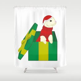 Holiday Fuzzy Shower Curtain