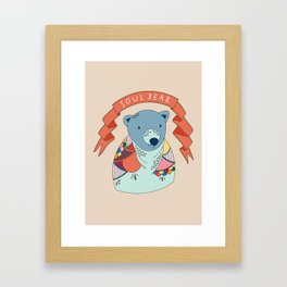 Soul Bear Framed Art Print