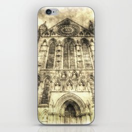 York Minster Cathedral Vintage iPhone Skin
