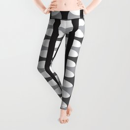 Geometric Pattern #186 (gray ovals) Leggings