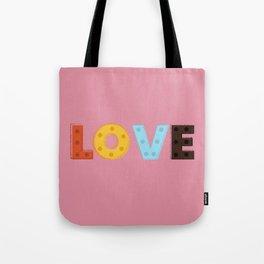 happy LOVE - typography Tote Bag