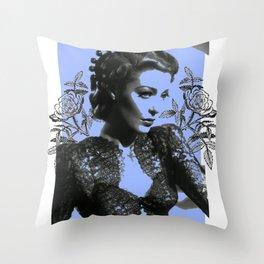 1940's Screen Siren Tattoo Art Throw Pillow