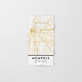 MEMPHIS TENNESSEE CITY STREET MAP ART Hand & Bath Towel