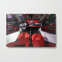 Smart ForTwo Turbo Cabrio Tritop Inside Metal Print