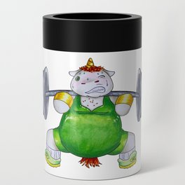 Unicorn Weight Lifter Can Cooler