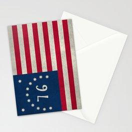 American Bennington flag - Vintage Stone Textured Stationery Cards
