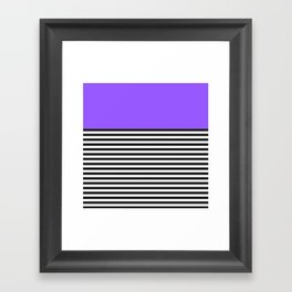 STRIPE COLORBLOCK {PURPLE} Framed Art Print