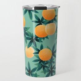 Orange Twist Vibes #1 #tropical #fruit #decor #art #society6 Travel Mug