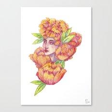 Peonies 1/2 Canvas Print