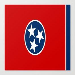 flag of Tennessee-south, america, usa,Tennessean, Volunteer State,memphis,Nashville,jackson,jazz Canvas Print