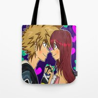 kingdom hearts Tote Bags featuring Hearts  by Konohakitten