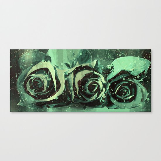 Turquoise Roses Canvas Print