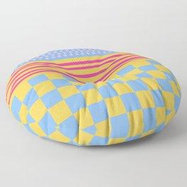 Polka Dots Stripes Checker Pastel Colors Patchwork Floor Pillow
