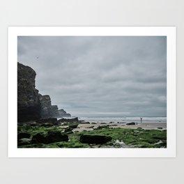 Whipsiderry Beach, Newquay, Cornwall Art Print