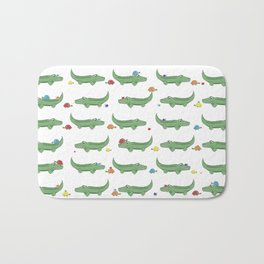 Alligator, Snail and Turtle Party - Children - 57 Montgomery Ave Bath Mat