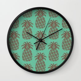 Retro Mid Century Modern Pineapple Pattern 522 Wall Clock