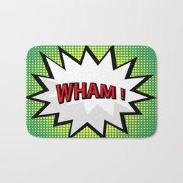 Wham comic burst in pop art style Bath Mat