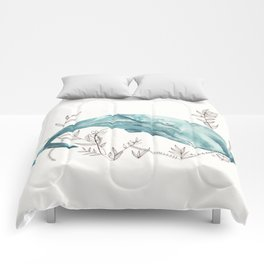 Sperm Whale Watercolor Comforters