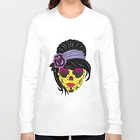 sugar skull Long Sleeve T-shirts featuring SUGAR SKULL by mark ashkenazi