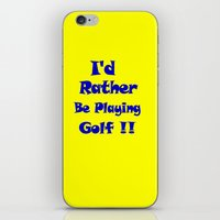 golf iPhone & iPod Skins featuring Golf by Brian Raggatt
