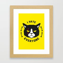 I hate everyone Framed Art Print