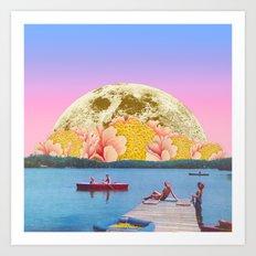 Pink lake Art Print