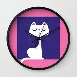 Cat in a window Wall Clock