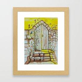 Doorway of Light - Gold Lotus Oracle Series Framed Art Print