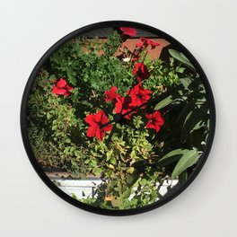 Something in Red Wall Clock