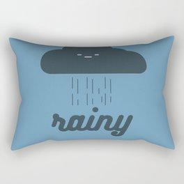 Rainy Rectangular Pillow
