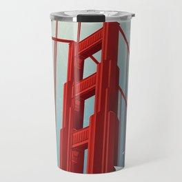 Golden Gate Bridge Travel Poster Travel Mug