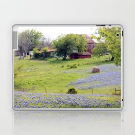 Old Red Barn and Rolling Bluebonnet Hills Laptop & iPad Skin