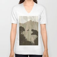 tomb raider V-neck T-shirts featuring Tomb Raider by s2lart