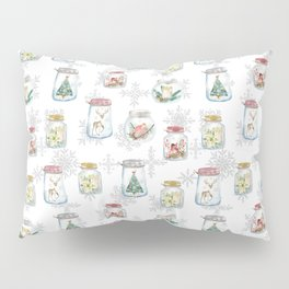 Christmas glass jars Pillow Sham
