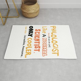 Philology definition design / philology student, funny philology / philology graduate Rug