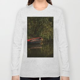 Dinghy On The Oxford Canal Long Sleeve T-shirt