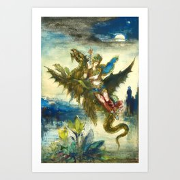"Gustave Moreau ""Dream of the Orient or The Peri"" Art Print"