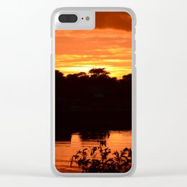 Southwold At Sunset Clear iPhone Case