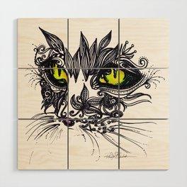 Intense Cat Wood Wall Art
