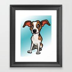 Miso (Beagle) Framed Art Print