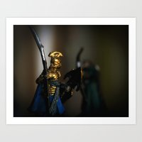 tolkien Art Prints featuring Tolkien Warriors by Madeline Audrey
