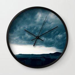 Stormy day in Pozzuoli, Bay of Naples, Italy Wall Clock