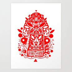 kozmik machine (red) Art Print