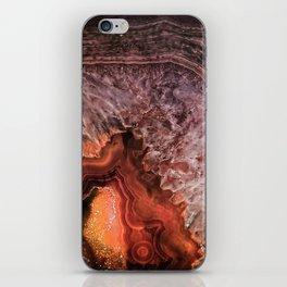 Copper Brown Agate Mineral Gemstone Geode iPhone Skin
