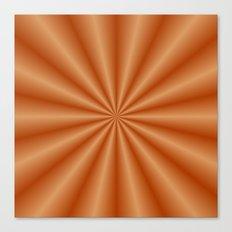 Orange Pleats Canvas Print