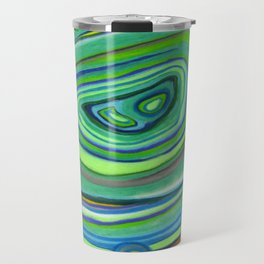 Vibrant Pastel on Suede Tree Ring Abstract by annmariescreations Travel Mug